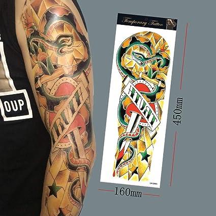3 piezas geisha belleza flor brazo tatuaje pegatinas impermeables ...