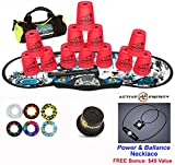 Speed Stacks Combo Set ''The Works'': 12 NEON PINK 4'' Cups, REBEL MUDD Gen 3 Mat, G4 Pro Timer, Cup Keeper, Stem, Gear Bag, 6 Snap Tops + Active Energy Necklace