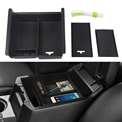 VANJING Center Console Organizer Insert Tray Compatible for 2010 2011 2012 2013 2014 2015 2016 2020 2020 2020 Toyota 4 Runner Accessories with USB Hole Center Armrest Storage Box with A Cleaner Brush: Automotive