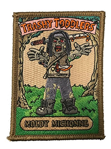 """Trashy Toddlers """"Moldy Michonne"""" Funny TV Show Parody Iron On Patch"""