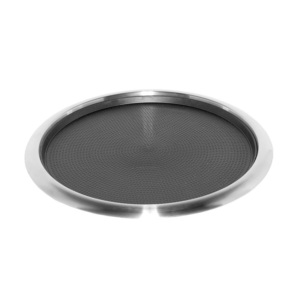 Service Ideas TR1614RI Tray, 18/8 Stainless Steel, Removable Insert, 16'' x 14''