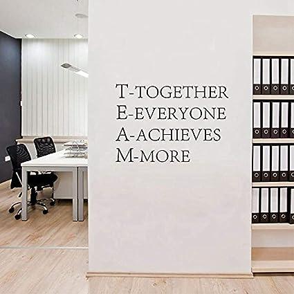 Amazon com: Home Art Quotes Team Together Everyone Achieves