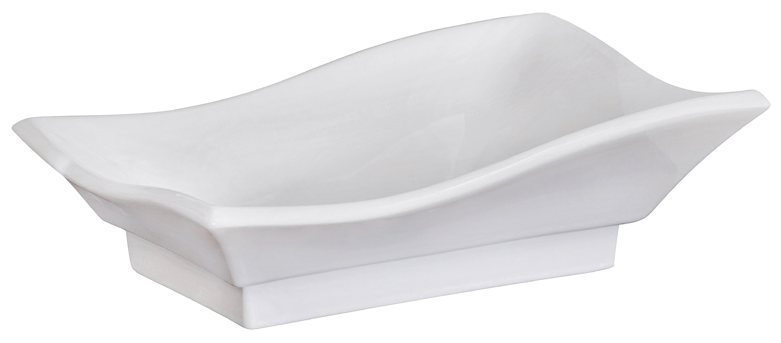 American Imaginations 591   Above Counter Rectangle White Ceramic Vessel for Wall or Deck Mount Faucet Installation by American Imaginations