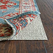 Rug Pad USA, Nature's Grip, Eco-Friendly Jute & Natural Rubber Non-Slip Rug Pads, 2' x 8' Oval