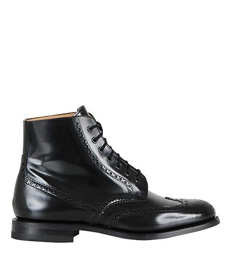 moda firmata 0496f 9edca CHURCH'S Renwick Stivaletti in Pelle Spazzolata Nero Eleganti Classici  Scarpe da Uomo Classiche Stivaletti Scarponcini Anfibi