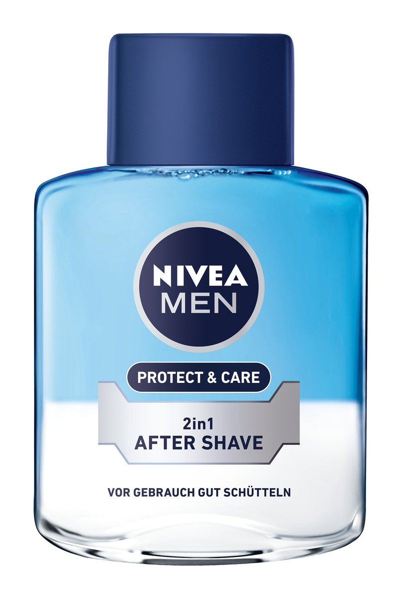 Nivea Men Protect & Care 2-in-1 After Shave im 6er Pack (6 x 100 ml), Aftershave pflegt die Haut nach der Rasur, beruhigende und erfischende Gesichtspflege 88569-01000-14