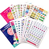 Planner Stickers Variety Bundle Set (Qty 770+) for Birthdays, Home, Work, School, Appointments, Projects, Party, Dates, Sports, Family, Checklists, to-Do, Bills, Due Dates, Gifts for Any Planner