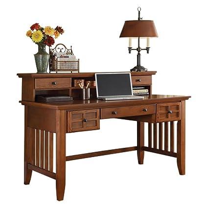 Amazon.com: Arts U0026 Crafts Cottage Oak Executive Desk By Home Styles:  Kitchen U0026 Dining