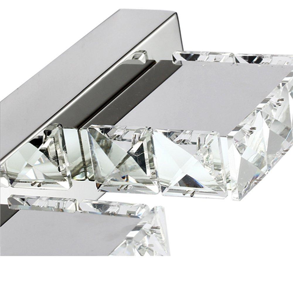 comeonlight 12W Bathroom Vanity Light, LED Crystal Make Up Mirror Light, 4-lights Daylight White 1200 Lumen Bathroom Bedroom lighting