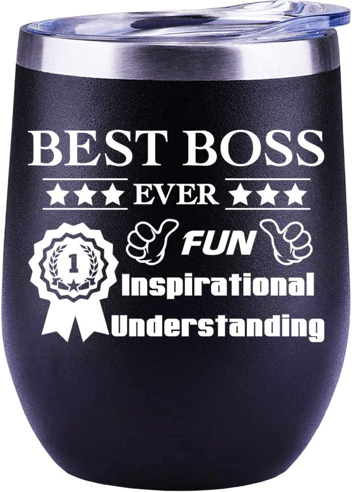 Boss Gifts   For Men   Women   Leaving Job   Christmas Gifts   Male   Office   Funny Wine Glass