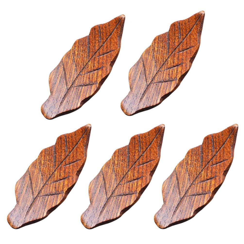 manualidades decoraci/ón de mesa vintage boda cosecha amarillo UPKOCH 5 piezas de palillos de madera para soporte de cuchara y tenedor de cuchillos para bricolaje small amarillo oto/ño