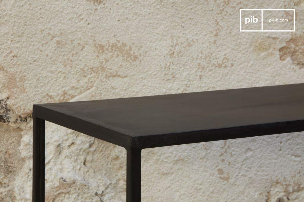 Noir/Graphite Le Rangement Multi-Style Tout en Finesse L123 x H78 x P28 cm Console Industrielle Longue Myriam Association Facile Finition Matte Produit 100/% m/étal Multi-usages