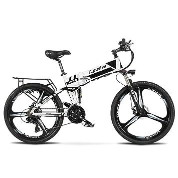マウンテンバイク RICH BIT 860 折りたたみアルミフレーム 26インチ 電動アシスト自転車 公道乗れと防犯登録可能 250W*12.8AH