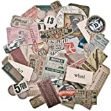 Tim Holtz Idea-ology Expedition Ephemera Pack, 63-Piece, Assorted Colors/Designs, TH93115