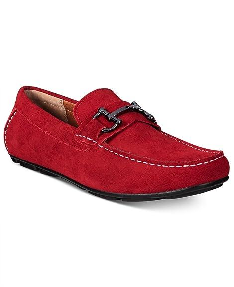 Alfani - Mocasines para hombre rojo Red