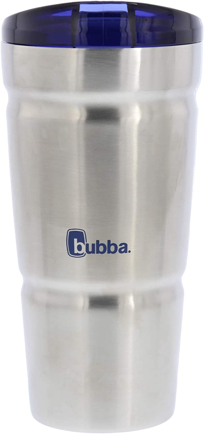 Bubba Envy Dual-Wall Vacuum Insulated Stainless Steel Tumbler, 18 Ounces - Keep All Your Favorite Cold Drinks at Your Side - Ideal For Travel - BPA-Free - Odor and Stain Resistant - Bold Blue