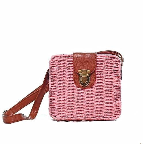 Amazon.com: nodykka Retro portátil saco de paja de verano ...