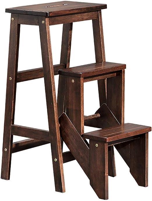 AJJZX Paso Stool- Utilidad de Dos etapas del Taburete de Madera de Roble, Cama for niños escaleras Adultos Abuelos Animales Escalera Antideslizante Reposapiés de construcción Escaleras de Cama: Amazon.es: Hogar