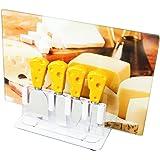 イマジンテーブル チーズ柄チーズナイフ 4本セット アクリルスタンド&グラスボード付き CC050601