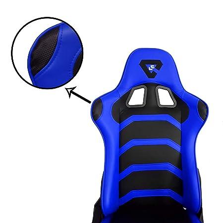 Tiendas el Castor Silla Gaming Profesional, Silla Gamer Regulable ergonómica, con inclinación 180º. Silla Gamer con Altura de Asiento y reposa Brazos ...