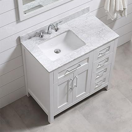 Incroyable Ove Decors Tahoe 36W Marble Top Single Bathroom Sink Vanity, 36 Inch By 21