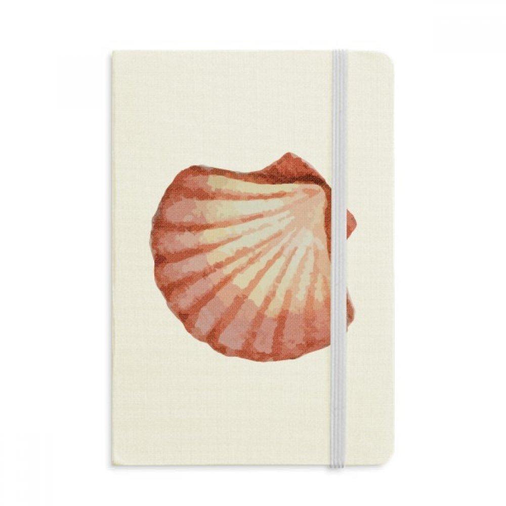 Amazon.com : Scallop Marine Life Red Illustration Notebook Fabric ...