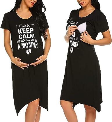 SK Studio Mujer Pijama Conjunto Camiseta, Pijama Conjunto Maternidad, Premamá Camisón/Bata/Pijama: Amazon.es: Ropa y accesorios