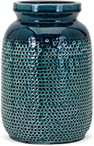 Imax 13345 Hollie Small Vase, Teal