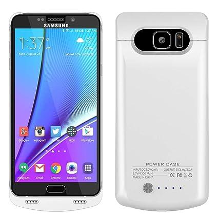 Amazon.com: runsy Galaxy Note 5 caso, 4200 mAh recargable ...