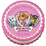 "Paw Patrol #3 Edible Frosting Sheet Cake Topper - 7.5"" Round"