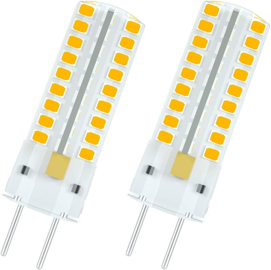 1819 Bombillas LED G6.35 5W Blanco Cálido 3000K Equivalentes a Lámparas G6.35 GY6.35 Halógenas de 50W 450LM AC 12V (2 piezas)