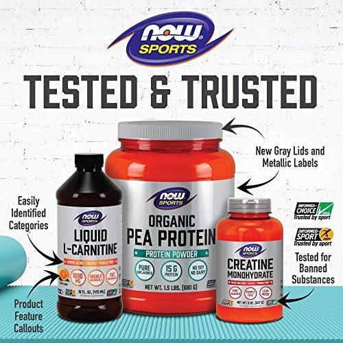 NOW Sports Nutrition, L-Glutamine Pure Powder, Nitrogen Transporter*, Amino Acid, 1-Pound 8
