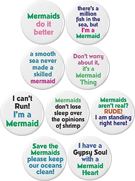 Set 9 Mermaid Quotes 225quot Keychains Cute Girly Love Gypsy