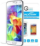 Galaxy S5 Screen Protector, ACEPower® Premium Tempered Glass Screen Protector for Galaxy S5 , 99.9% Clarity and Touchscreen Accuracy