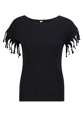 Beauty7 Camisetas Mujer Verano Borla Nudo Mangas Corta Cuello Redondo Funda Tank Color Puro Parte Su...