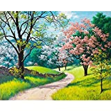 5D Full Drill Diamond Painting,Jchen(TM) Home Decorations Craft Spring Summer Fall Winter 5D DIY Diamond Painting Kit Pasted DIY Diamond Painting Cross Stitch (Summer)