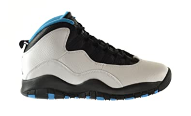 c094dd2e85d Jordan Air Retro 10 Men s Shoes White Dark Powder Blue-Black 310805-106