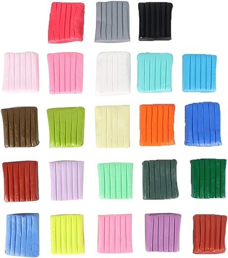 NUOBESTY 24 Colores Arcilla Plastilina Arcilla Blanda para Niños Juego de Juguete Artesanal (Embalaje de Caja de Papel 500G sin Herramientas): Amazon.es: Deportes y aire libre