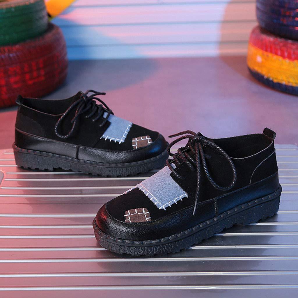 Bluestercool Chaussures Bateau Casual Loafers Chaussures de Sport Fashion Bout Rond Flat Shoes Femme Dames Sneaker Mocassins Sandales Chaussures de Travail