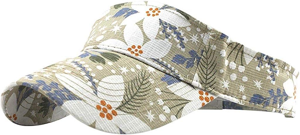 Gergeos Women Men Baseball Cap Sun Hat Washed Canvas Visor Printed Cap Outdoor Adjustable