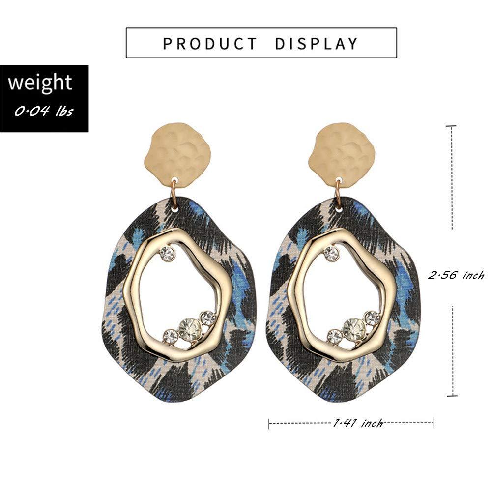 Songlanbuy Velvet Hoop Earrings Lightweight Hollow Geometric Octagon Statement Stud Earrings Fashion Jewelry Women Earring Jackets for Teen Girls Gifts