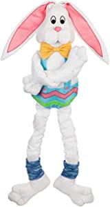 Evergreen Flag Beautiful Spring Easter Bunny Post Hugger Flexible Decor - 11 x 45 Inches Fade and Weather Resistant Outdoor Decoration for Homes, Yards and Gardens