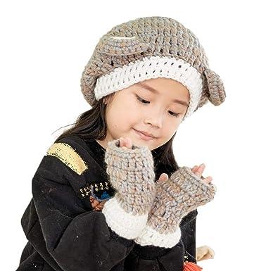 Bonnet Bébé, Enfants Chaud Hibou Mignon Tricoté Laine Oreille Capuche  écharpe Casquettes pour Automne Hiver Chapeau (Beige)  Amazon.fr  Vêtements  et ... 6400e88cbcb