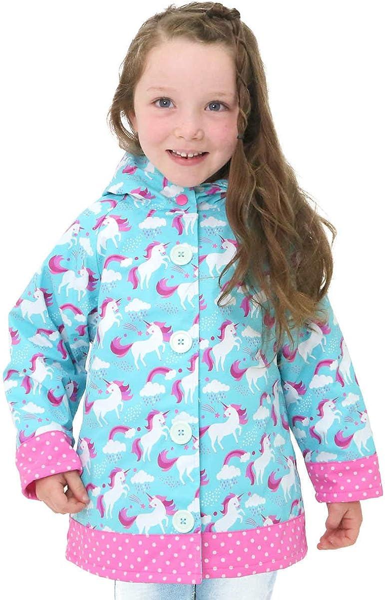 Western Chief Girls Unicorn Rain Coat Turquoise, 3T