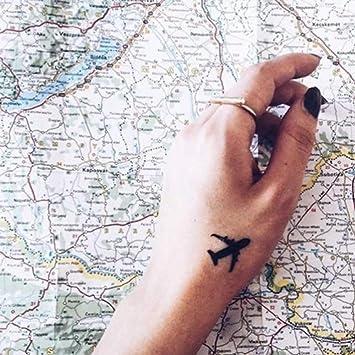 Tatuaje Temporal de Avión (4 Piezas) - www.ohmytat.com: Amazon.es ...