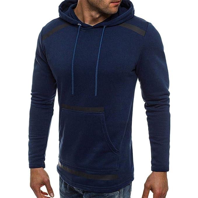 Manga larga de hombre BaZhaHei, Camiseta de manga larga con capucha de manga larga con