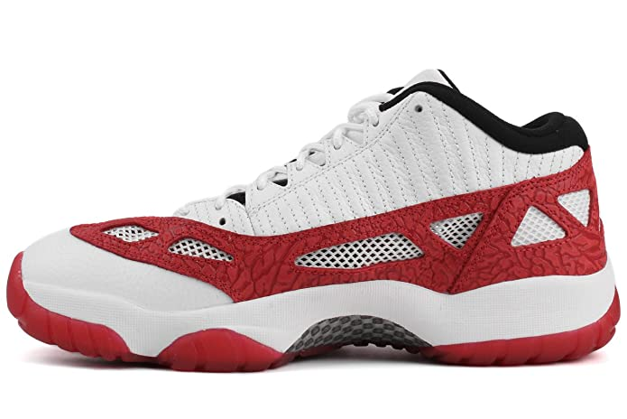 the latest 8a312 4cef3 Amazon.com   Jordan Nike Mens Air 11 Retro Low ie Fire Red White Gym Red- Black   Fashion Sneakers