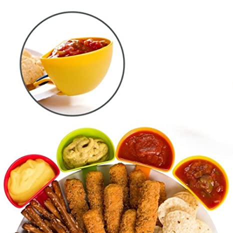Cuencos aperitivos de plástico ideales para la cocina. Disfruta en casa de tus salsas con
