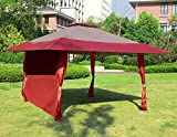gazebo curtains with velcro Cloud Mountain 1 PC Wall Side Gazebo Canopy Wind and Sun Shade Privacy Panel Curtain Replacement, Burgundy