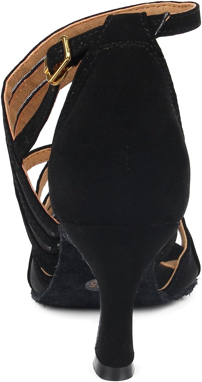 SUKUTU Ballroom Dance Shoes Women Latin Tango Salsa Practice Samba Waltz Social Dancing Shoes